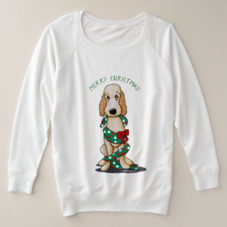 KiniArt Shaved Goldendoodle Christmas Plus Size Sweatshirt