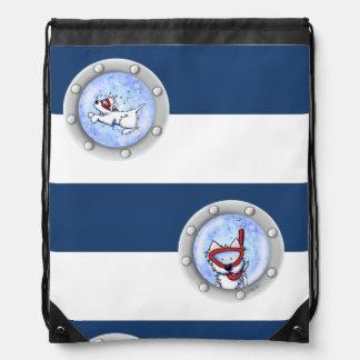 KiniArt Snorkel Westies Backsack Cinch Bag