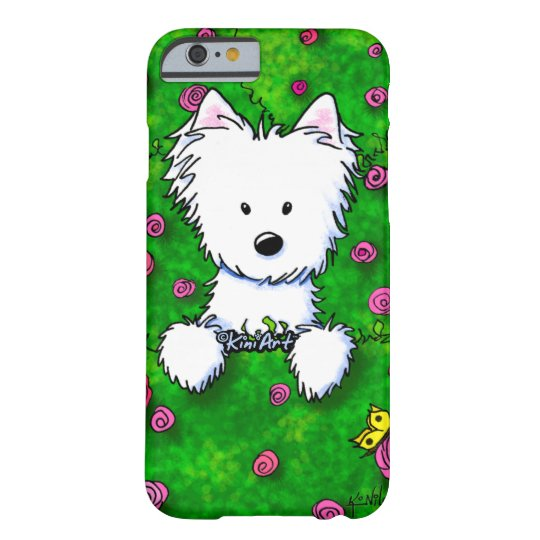 KiniArt Spring Roses Westie Barely There iPhone 6