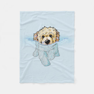 KiniArt Swimming Doodle Fleece Blanket