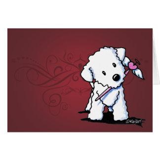 KiniArt Valentine Bichon Frise Note Card