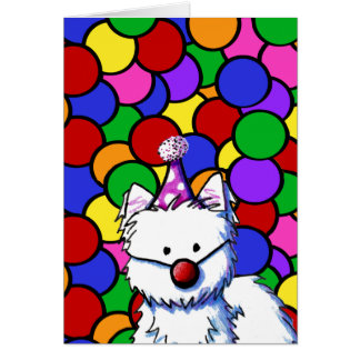 KiniArt Westie Birthday Card