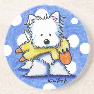 KiniArt Westie Dog And Duck Toy Coaster
