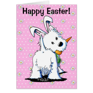 KiniArt Westie Easter Bummy Stationery Note Card