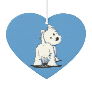 KiniArt Westie Fluffybutt Car Air Freshener