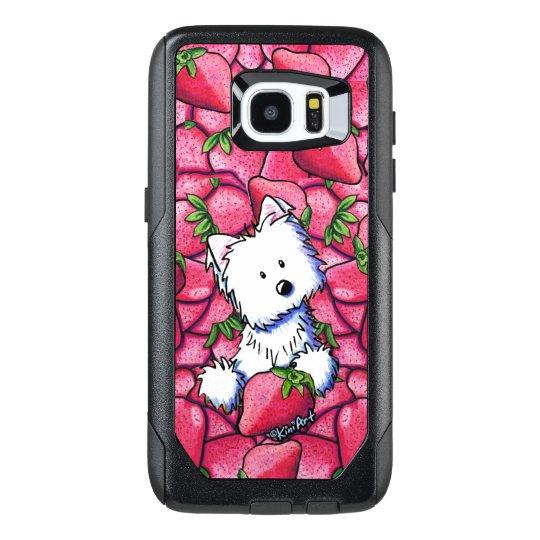 KiniArt Westie in Strawberries OtterBox Samsung Galaxy S7