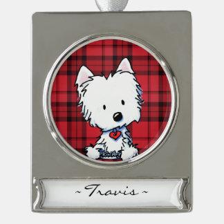 KiniArt Westie Personalized Ornament