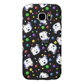 KiniArt Westie Polka Dot Samsung Galaxy S6 Cases