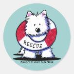KiniArt WESTIE Rescue Stickers