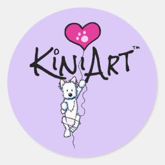 KiniArt Westie Stickers