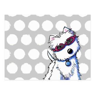 KiniArt Westie Sun Doggles Postcard