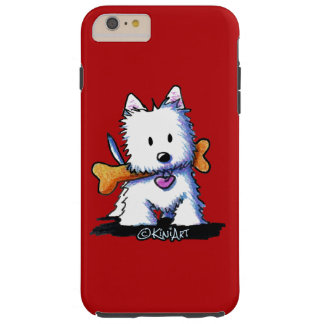 KiniArt™ Westie with Bone Tough iPhone 6 Plus Case