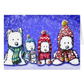 KiniArt Winter Westies Card