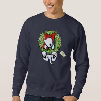 KiniArt Wreath Wrangler Westie Sweatshirt