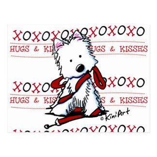 KiniArt XOXO Westie Postcard