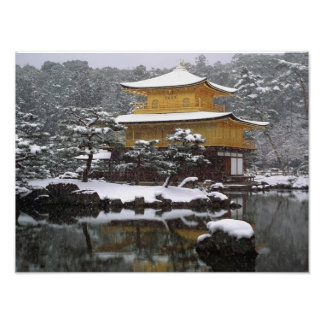 Kinkaku Snow Photo Print