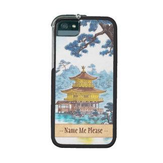 Kinkakuji Temple Kamei Tobei japanese scenery art iPhone 5 Cases