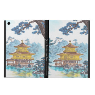 Kinkakuji Temple Kamei Tobei japanese scenery art Cover For iPad Air