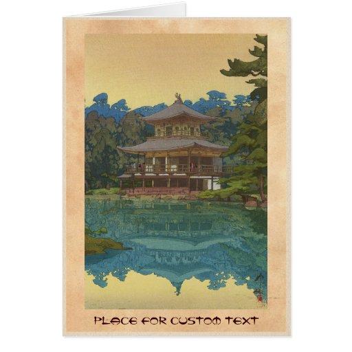 Kinkakuji Temple Yoshida Hiroshi shin hanga art Greeting Card