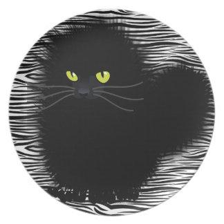 Kinky Black Kitty Dinner Plate