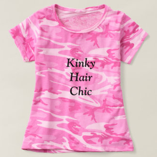 Kinky Hair Chic camo pink Tshirt