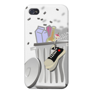 Kinky Kitty Trash Can Speck Case iPhone 4/4S Covers