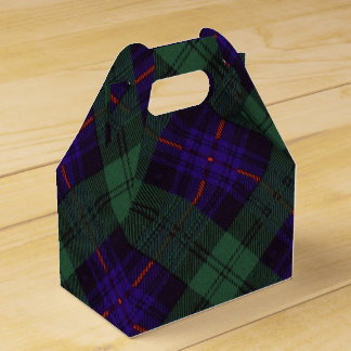 Kinmount clan Plaid Scottish kilt tartan Wedding Favour Box