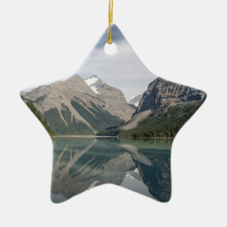 Kinney Lake and Mount Whitehorn near Mount Robson Ceramic Star Decoration