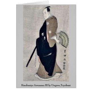 Kinokuniya Sawamura III by Utagawa,Toyokuni Note Card