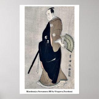 Kinokuniya Sawamura III by Utagawa,Toyokuni Poster