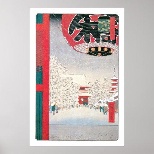Kinryuzan Temple, Asakusa, 1856 Poster