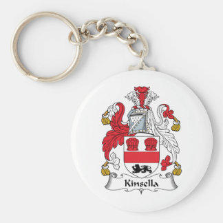 Kinsella Family Crest Basic Round Button Key Ring