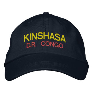 Kinshasa - Congo Emboidred Hat Baseball Cap