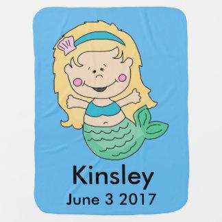 Kinsley's Personalized Mermaid Baby Blanket