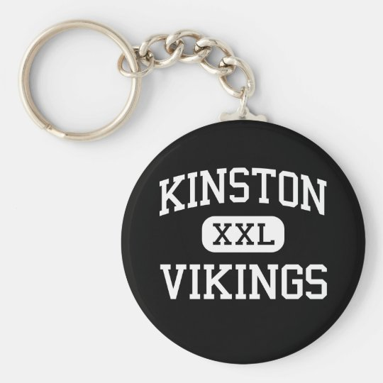 Kinston - Vikings - High - Kinston North Carolina Basic Round Button Key Ring
