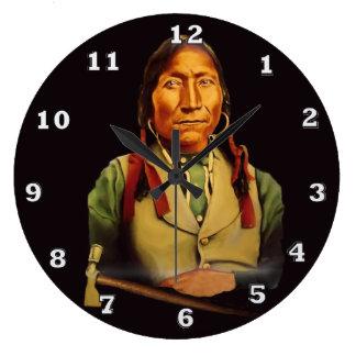Kiowa Chief Lone Wolf Clock