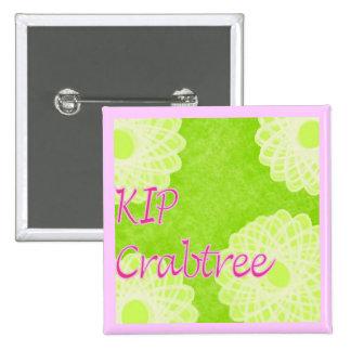 KIP Crabtree Knitting 15 Cm Square Badge