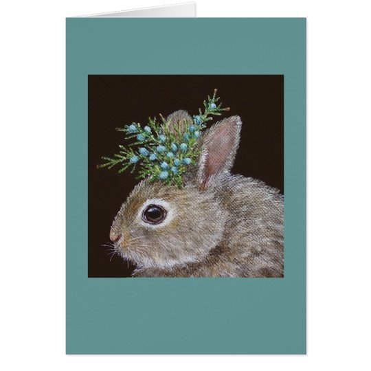 Kip the baby bunny card