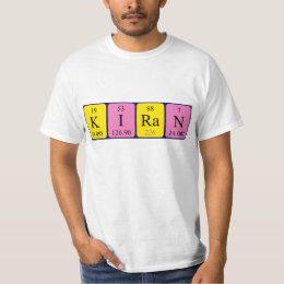 Kiran periodic table name gifts on zazzle uk kiran periodic table name shirt urtaz Image collections