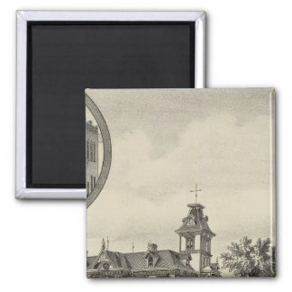 Kirby residence and Bank, Abilene, Kansas Square Magnet