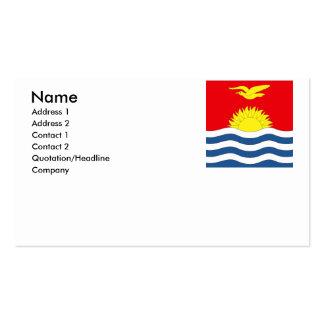 Kiribati Pack Of Standard Business Cards