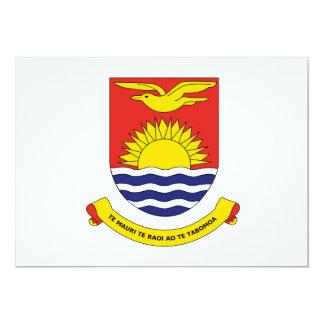 Kiribati Coat of Arms 13 Cm X 18 Cm Invitation Card