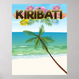 Kiribati Island travel poster