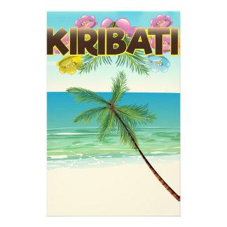 Kiribati Island travel poster Stationery