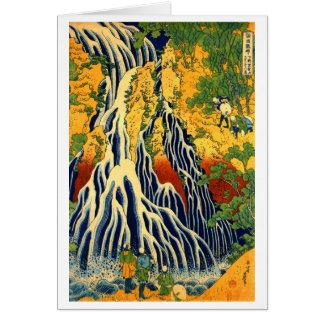 Kirifuri Waterfall at Mount Kurokami in Shimotsuke Note Card