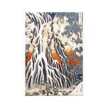 Kirifuri Waterfall on Mount Kurokami in Shimotsuke Gallery Wrap Canvas