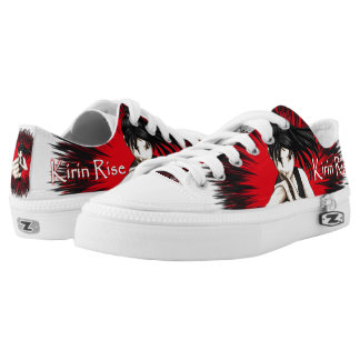 Kirin Rise Red and Black Canvas Low Top Shoes