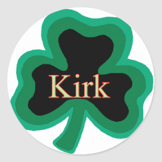 Kirk Family Round Sticker