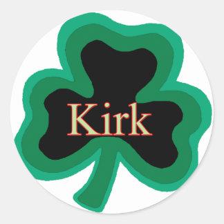 Kirk Family Round Stickers