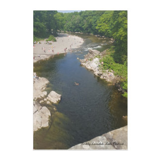 Kirkby Lonsdale with the River Lune wall panel Acrylic Print